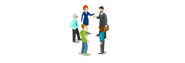 Illustration of meeting
