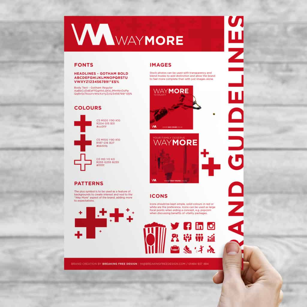 Brand Guidelines Poster for Way More