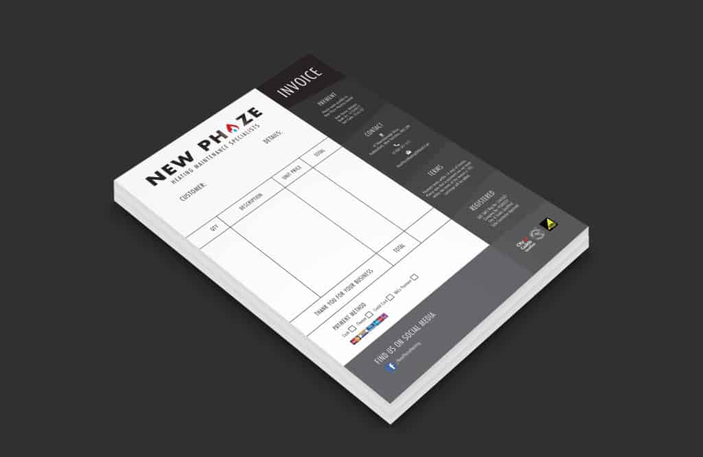 Invoices for New Phaze Heating