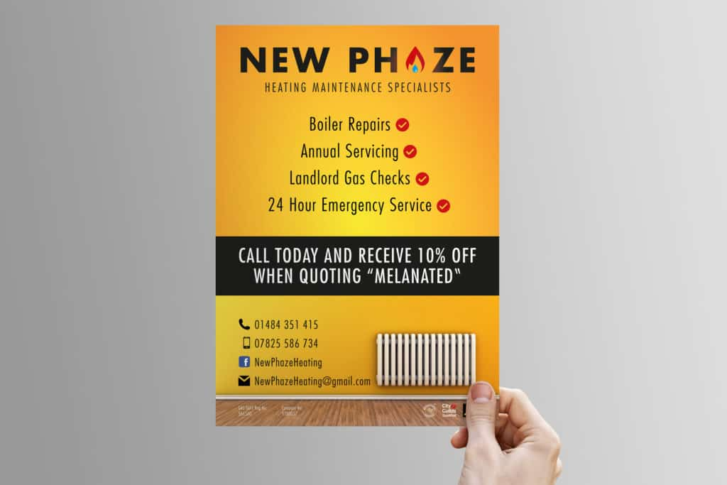 A poster design for New Phaze Heating