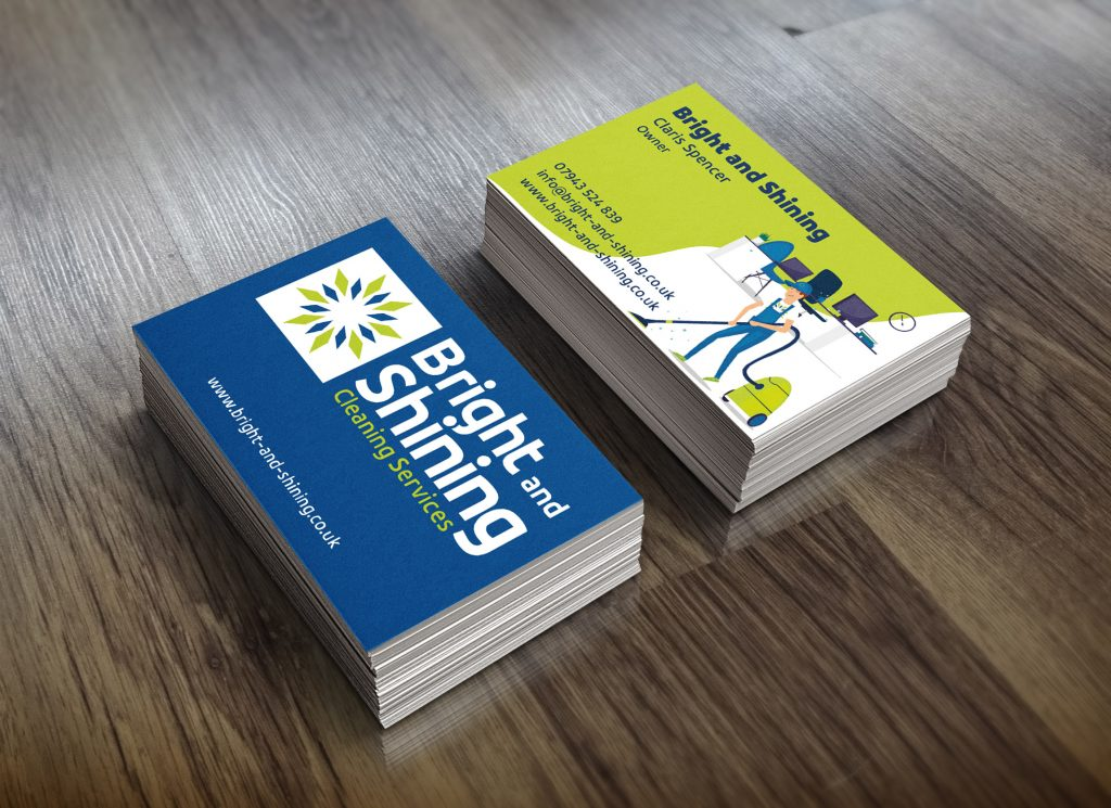Business cards for Bright and Shining