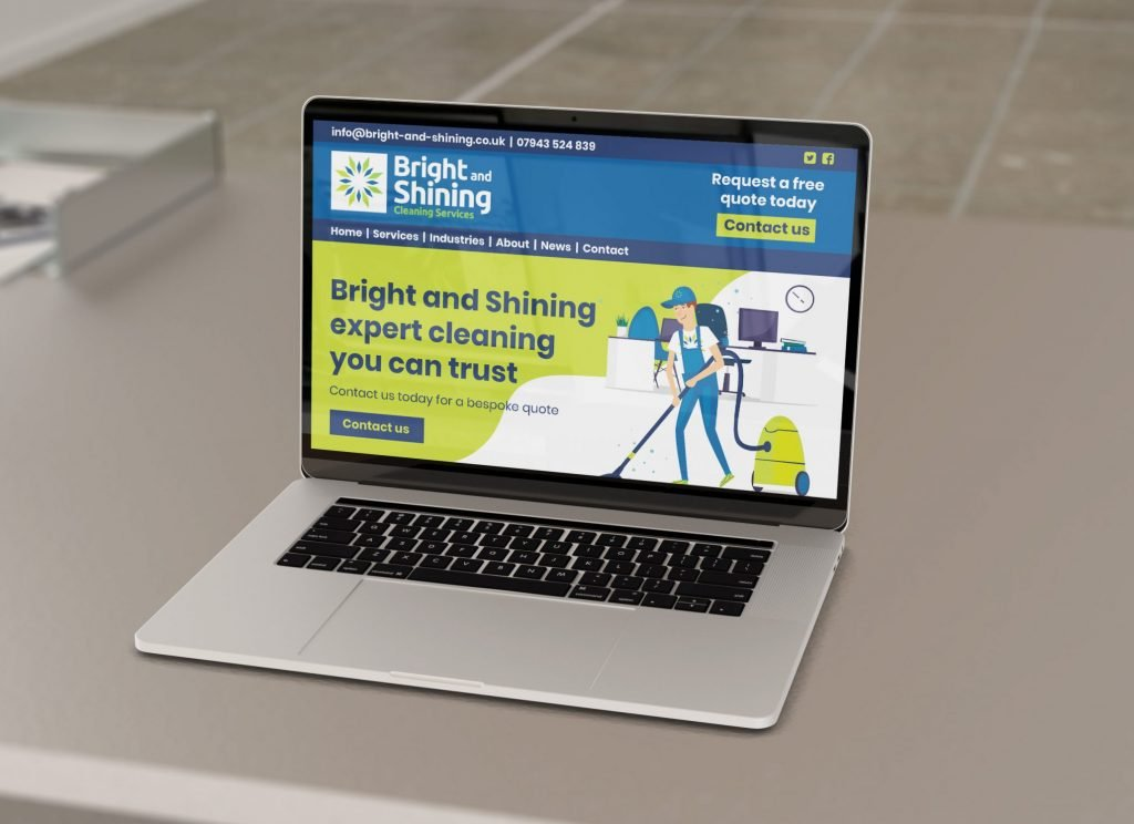 Image of website for Bright and Shining