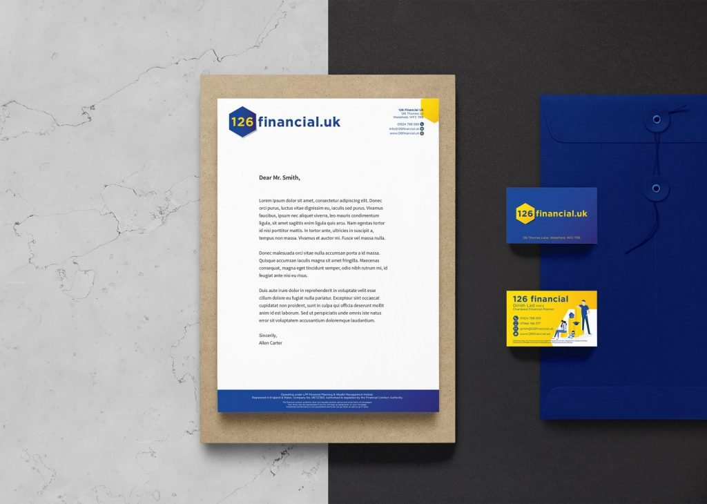 Image of branded material for 126 Financial UK