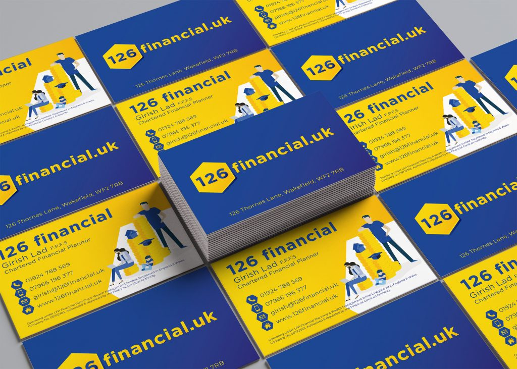 Image of business cards for 126 Financial UK