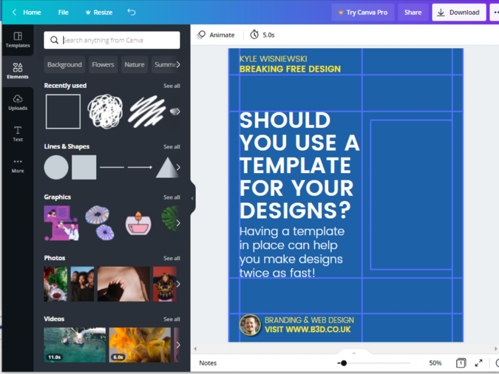 Image of Breaking Free Design Canva Template Tutorial